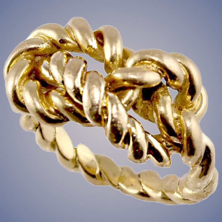 963e5b8b1 18k Gold Gucci Braided Love Knot Ring : Olympic Gold And Jewelry | Ruby Lane