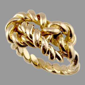 18k Gold Gucci Braided Love Knot Ring