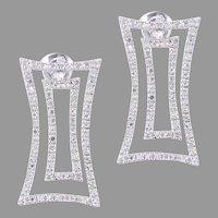 Diamond Dangle 14k White Gold Earrings