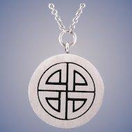 Diamond Norse Knot 18k Gold Necklace