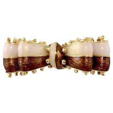 Tiffany & Co. 18k Bow Pin Brooch, Signed