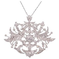 Diamond And Gold Lavaliere Pendant