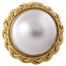 Mabe Pearl, 14k Yellow Gold Statement Cocktail Ring