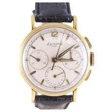 Vintage Lemania Watch. Men's Luxury Swiss Chronograph Watch, 1940's.