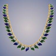Diamond, Emerald, Sapphire Vintage Necklace