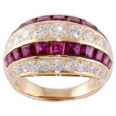 Exquisite Tiffany & Co. Diamond, Ruby Ring