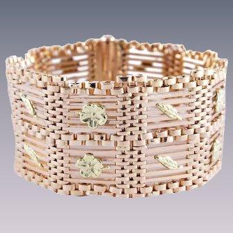 Solid 18k Gold Woven Gold Decorative Arts Bracelet