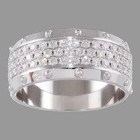 Authentic Louis Vuitton 18k Three Row Diamond Emprise Ring