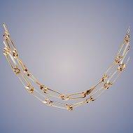 Handmade 14k Gold Link Necklace