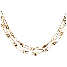 Handmade 14k Gold Link Necklace