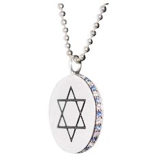 Jewish Pendant Sterling Silver Necklace