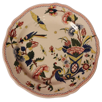 19th Century French Ceramic Handpainted Plate by Gien