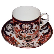 Royal Crown Derby Handpainted Cup and Saucer Dated 1895