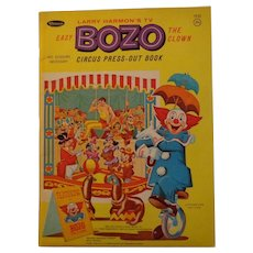 Vintage Bozo the Clown Circus Press-Out Book Larry Harmon TV Whitman Publishing 1966