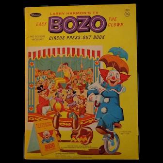 Vintage Bozo the Clown Circus Press-Out Book Larry Harmon TV Whitman Publishing 1966
