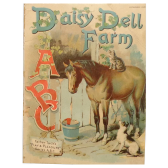Vintage Father Tuck's Daisy Dell Farm Book Play & Pleasure Series ABC #1616