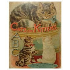 "Vintage Raphael Tuck & Sons Child's Book  ""Cats and Kittens"" #5070 from ABC Series"