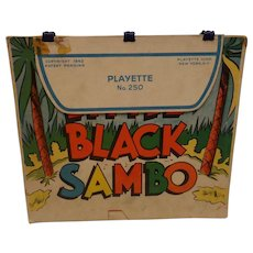Vintage Little Black Sambo & Three Little Pigs Playette Book No. 250 1942 1st ED