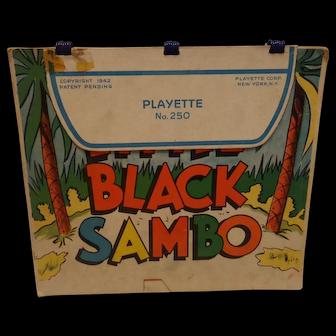 Vintage Little Black Sambo & Three Little Pigs Playette Book No. 250 1942 1st ED