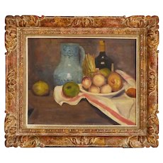 1928, Oil Painting, Still Life with Fruits and Vegetables