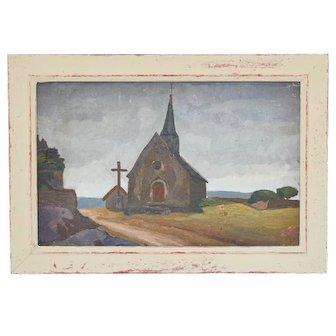 Church Saint Michel in Brittany, Gabriel Rabier 1884-1955