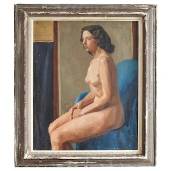 Early 20th Century oil Painting, Studio Nude