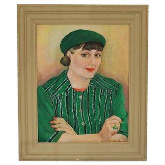 1943, Self-Portrait; American, Laurette Charlton