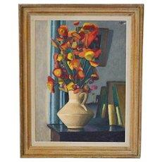 1950, Paris School, Oil Painting, 'Immortelles'