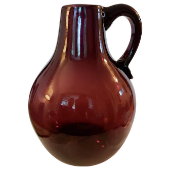 Beautiful amethyst blown glass vase