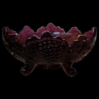 Glass amethyst grape design dish