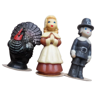 Lot of Three Gurley Thanksgiving Candles