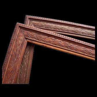 Pair ANTIQUE Wood Picture Frames 1890 - 1910 era