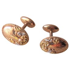 10K Gold Cufflinks - Art Nouveau