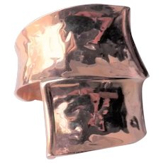 14K Rose Gold Ring - Milor Italy - Modernist