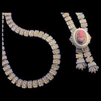 Victorian Bookchain Cameo Necklace