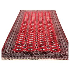 4x6 RED PERSIAN RUG HAND KNOTTED IRAN ANTIQUE wool handmade bokara caucasian oriental wovne made carpet 5x6 4x7 rugs