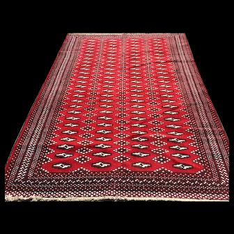 4x6 RED PERSIAN RUG HAND KNOTTED IRAN ANTIQUE wool handmade bokara caucasian oriental wovne made carpet 5x6 4x7 rugs