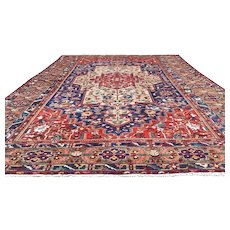 12x18 HAND KNOTTED PERSIAN RUG IRAN WOVEN MADE ANTIQUE WOOL 13x18 rugs baktiar influence caucasian / caucus oriental carpet