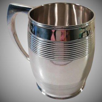 An Antique George III 'Bateman' Silver Mug / Tankard : London 1810