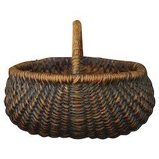 Antique Folk Art Buttocks Basket - Red Tag Sale Item