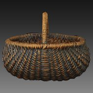 Antique Folk Art Buttocks Basket