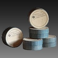 Antique French Apothecary Chemist Pill Boxes
