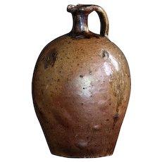 Antique French Earthenware Oil Jug - 19th Century Primitive Cruche
