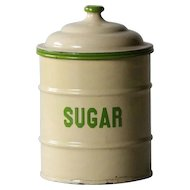 English Enamelware Kitchen SUGAR Canister - Graniteware