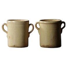 Antique Italian Confit Pots - 19th Century Terracotta Preserve Jars #2