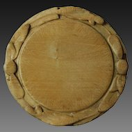 19th Century English Carved Breadboard- Antique Treen Bread Board