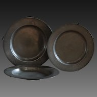 Antique English 18th Century Pewter Plates