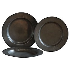 Antique English 18th Century Pewter Plates - Red Tag Sale Item