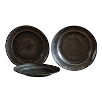 18th Century English Pewter Plate Group #2