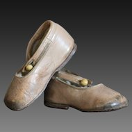 Antique Small Child's / Baby Leather Shoes - English